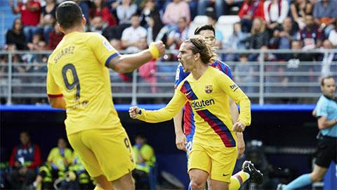 Griezmann đóng góp 1 bàn và 1 đường kiến tạo vào trận thắng của Barca