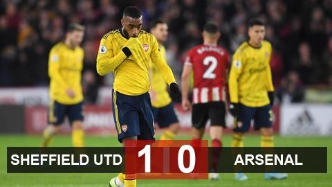 Sheffield United 1-0 Arsenal: Pháo thủ lỡ cơ hội vào Top 3