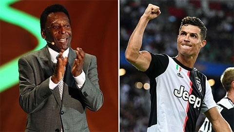"""Ronaldo còn lâu mới có thể hạ bệ """"vua bóng đá"""" Pele"""