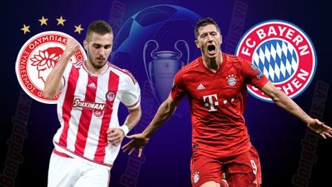 Nhận định bóng đá Olympiakos vs Bayern, 02h00 ngày 23/10:  Hùm xám xả stress