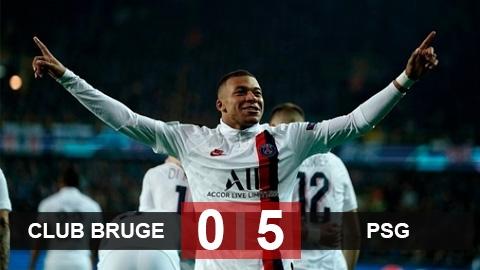 Club Brugge 0-5 PSG: Icardi và Mbappe tạo mưa bàn thắng