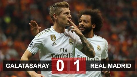 Galatasaray 0-1 Real Madrid: Thoát xác tại Champions League