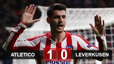 Atletico 1-0 Leverkusen: Morata mang về 3 điểm từ ghế dự bị
