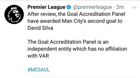 Công nhận bàn thắng cho Silva, Ngoại hạng Anh tự sỉ nhục VAR