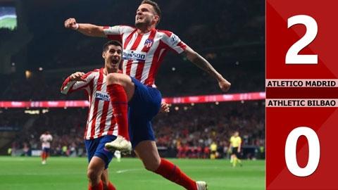 Atletico Madrid 2-0 Athletic Bilbao(Vòng 10 La Liga 2019/20)