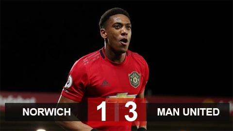 Norwich 1-3 M.U: Quỷ đỏ thắng trở lại