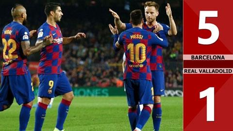 Barcelona 5 -1 Real Valladolid(Vòng 11 La Liga 2019/20)