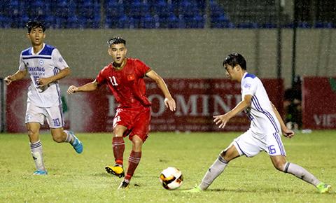 U21 tuyển chọn Việt Nam thắng đậm đội bóng sinh viên Hàn Quốc