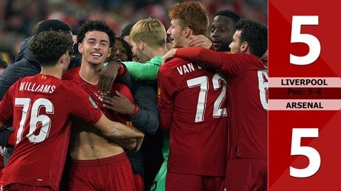 Liverpool 5-5 Arsenal (pen: 5-4)-(Vòng 4 Cúp Liên đoàn Anh 2019/20)