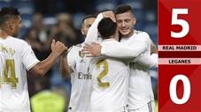 Real Madrid 5-0 Leganes(Vòng 11 La Liga 2019/20)
