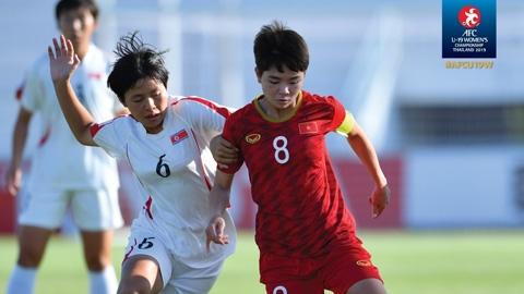 VCK U19 Nữ châu Á 2019: U19 nữ Việt Nam hòa Australia là vào bán kết