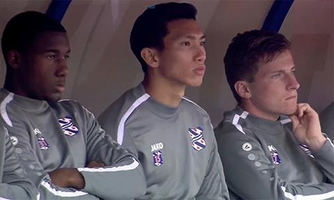 Văn Hậu chưa được thi đấu ở đội 1 Heerenveen
