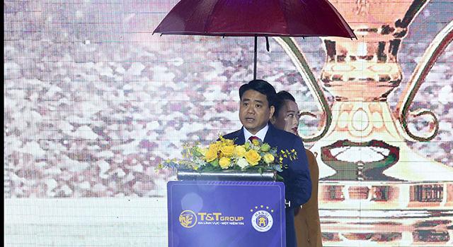 Phát biểu tại Lễ vinh danh thành tích của Hà Nội FC, ông Nguyễn Đức Chung - Ủy viên Trung ương Đảng, Chủ tịch UBND Thành phố Hà Nội đánh giá cao những nỗ lực, cố gắng của thầy trò HLV Chu Đình Nghiêm để gặt hái được những thành tích cao ở giải quốc nội, cũng như lần đầu tiên trong lịch sử lọt vào trận chung kết liên khu vực AFC Cup 2019.