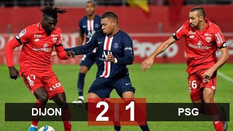 Dijon 2-1 PSG: Nhà vô địch hụt bước