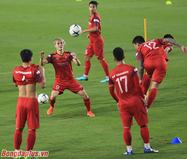 Buổi tập của đội tuyển Việt Nam diễn ra thoải mái. Các cầu thủ tự tin hướng đến trận đấu với UAE