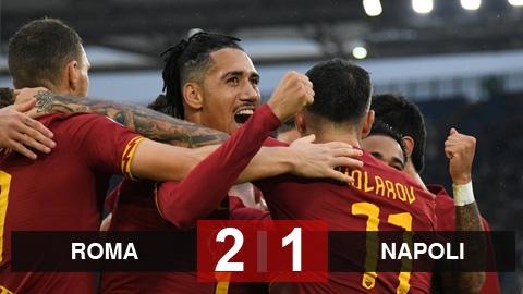 Roma 2-1 Napoli: Chen chân vào Top 3