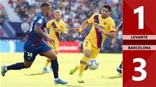 Levante 3 -1 Barcelona(Vòng 12 La Liga 2019/20)