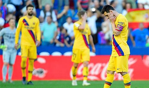 Nỗi buồn của Messi và các đồng đội