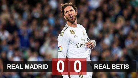 Real 0-0 Betis: Los Blancos phung phí cơ hội lên đầu bảng