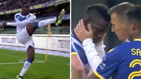 Đang đá, Balotelli nổi khùng ôm bóng sút lên khán đài