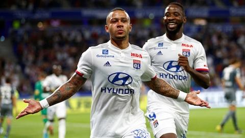 Lyon giành 7/9 điểm ở 3 vòng gần nhất: Depay - mãnh hổ đầu đàn