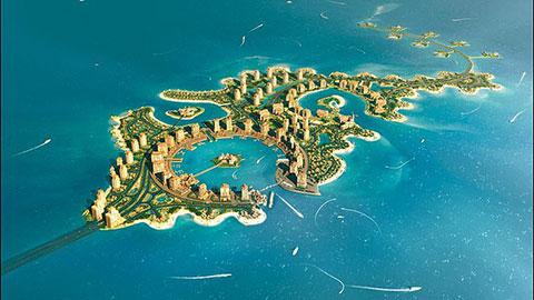 Khách sạn 5 sao mà Liverpool được sắp xếp nằm trên hòn đảo nhân tạo ở Doha
