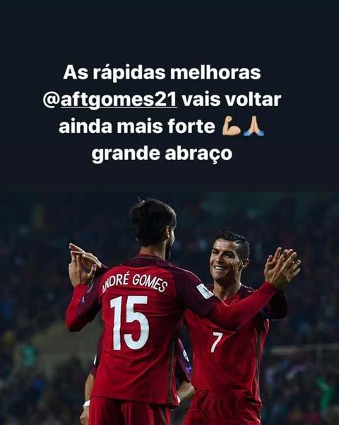 Ronaldo động viên Gomes