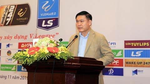 """Chủ tịch HĐQT, TGĐ công ty VPF Trần Anh Tú: """"Sẽ tiếp tục cải thiện để nâng tầm giải đấu"""""""