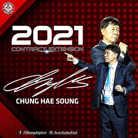 HLV Chung Hae Soung ở lại CLB TP.HCM thêm 2 năm