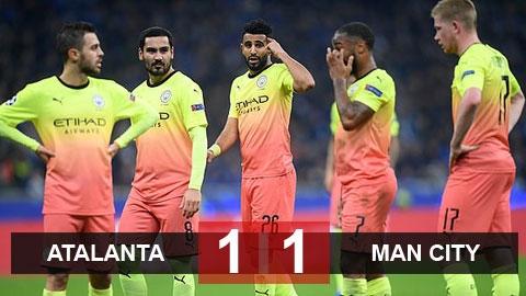 Atalanta 1-1 Man City: Man xanh lỡ cơ hội giành vé sớm