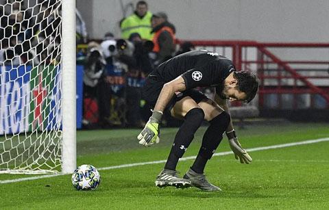 Sai lầm của thủ thành Lokomotiv biếu không cho Juve bàn thắng