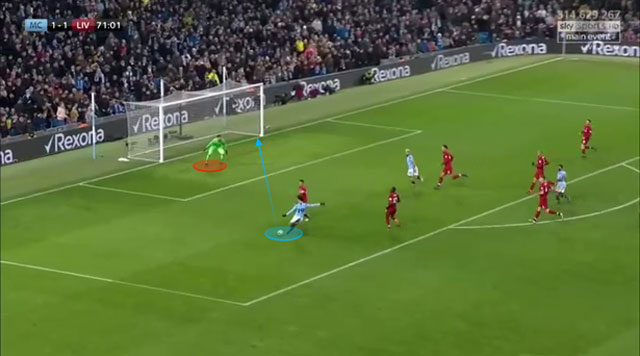 Sane ghi bàn ở tình huống chỉ có một lựa chọn duy nhất là dứt điểm