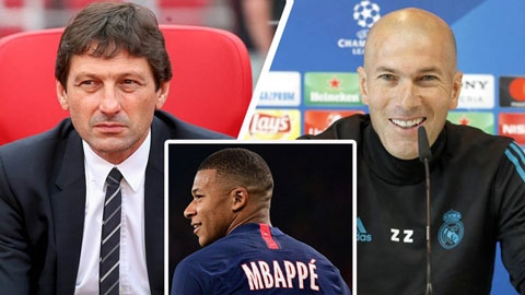 """PSG yêu cầu Zidane ngừng """"ve vãn"""" Mbappe"""