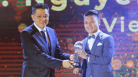 Quang Hải thắng tuyệt đối Chanathip ở giải Cầu thủ xuất sắc nhất Đông Nam Á