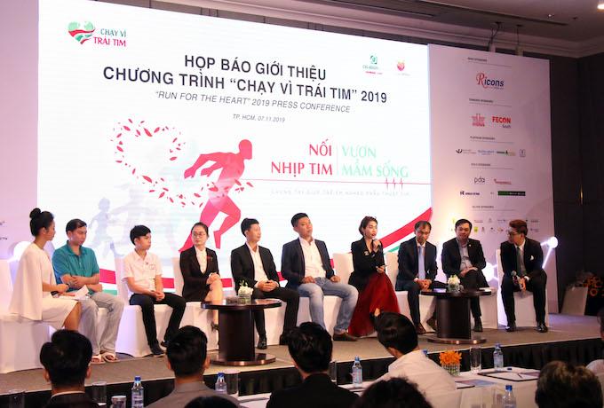 """Quang cảnh cuộc họp báo """"Chạy vì trái tim 2019"""" - Ảnh: Nam Trung"""