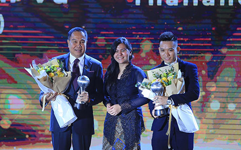 Trần Văn Vũ giành danh hiệu cầu thủ futsal xuất sắc nhất Đông Nam Á - Ảnh: Đức Cường