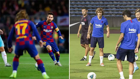 Messi hiếm khi giao tiếp với Griezmann