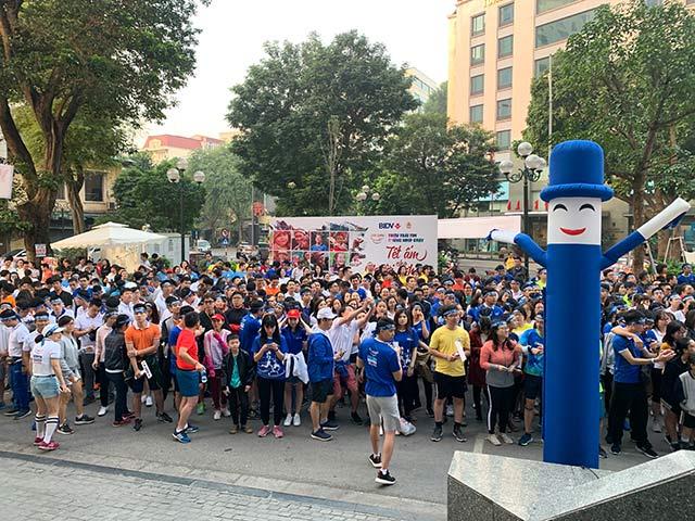 Sáng ngày 9/11 tại Hà Nội, ngân hàng BIDV khởi động giải chạy với hơn 16.000 người đăng ký tham gia online