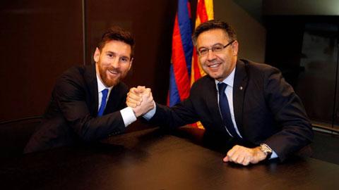 Chủ tịch của Barca muốn ký hợp đồng vô thời hạn với Messi