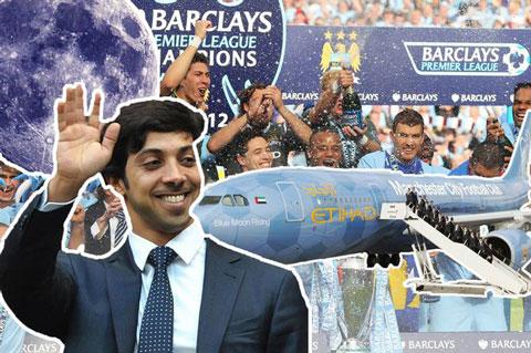 Man City xây dựng đội hình bằng núi tiền của tỷ phú Sheikh Mansour