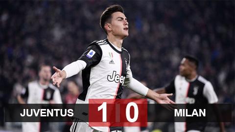 Juventus 1-0 Milan: Lão bà chiến thắng bằng khoảnh khắc ma thuật của Dybala