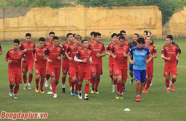 Đội tuyển Việt Nam có đầy đủ quân số 25 cầu thủ như HLV Park Hang Seo lựa chọn