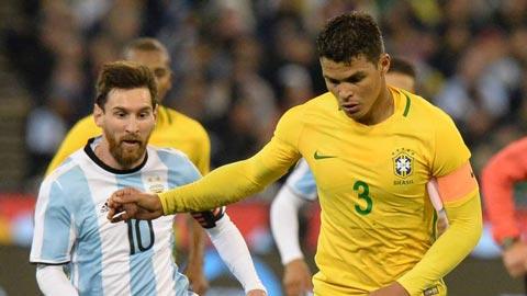 Thiago Silva: 'Brazil không sợ Messi và Argentina dù vắng Neymar'