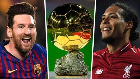 'Van Dijk xứng đáng đánh bại Messi để giành Quả bóng vàng'