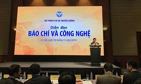Cục trưởng Cục báo chí Lưu Đình Phúc mở đầu Diễn đàn