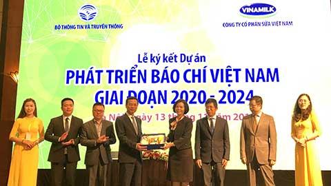 Lễ kí kết dự án Phát triển Báo chí giai đoạn 2020-2024