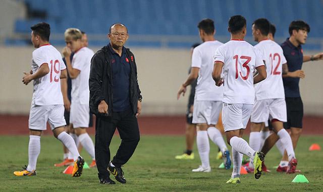 HLV Park Hang Seo đang chuẩn bị những phương án khác nhau khi đối đầu UAE