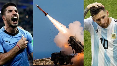 Israel trúng 50 quả rocket, trận Argentina với Uruguay nguy cơ hoãn