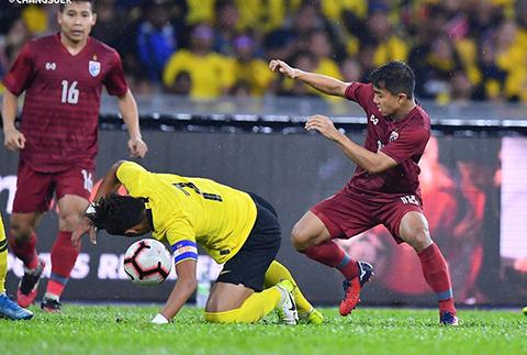 Thái Lan (phải) đã thất bại trên sân Malaysia
