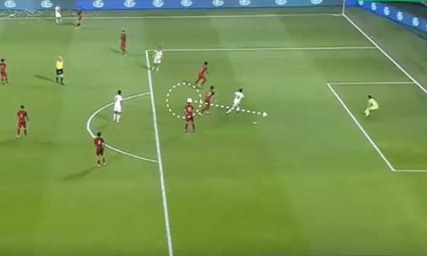 Khu vực lựa chọn thả trái bóng vào là trước vòng 5m50 của đối thủ